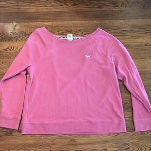 Victoria's Secret backless sweatshirt medium pink